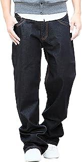 (Make 2 Be) デニム 豊富なサイズ ストレート ジーンズ ゆったり ワイド ジーパン メンズ 27-48 インチ MF64