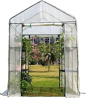 ビニールハウス 温室 頑丈な屋外温室プラスチックカバー- 屋内&屋外ガーデン裏庭植物フラワーハウス- 防雨防風防塵 (Size : Large)