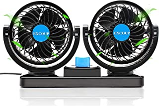 12 ولت فن خنک کننده هوا فن داشبورد قدرتمند فن اتومبیل برقی فن کم صدا 360 درجه قابل چرخش با 2 سرعت قابل تنظیم برای قایق وسیله نقلیه کامیون