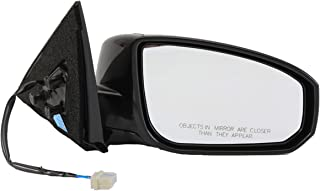Dorman 955-701 Passenger Side Power Door Mirror - Folding for Select Nissan Models, Black