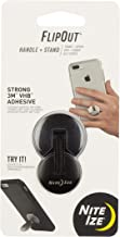 Nite Ize FlipOut - Low Profile Folding Handle and Stand with 3M VHB for Smartphones with 3M VHB, Black