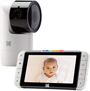 KODAK Cherish C525 Video Baby Monitor with Mobile App - Hi-res Baby Camera with Remote Tilt, Pan and Zoom, Two-Way Audio, Night-Vision, Long Range - WiFi Indoor Camera