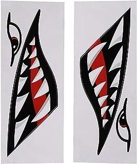 OhhGo 2 st vattentät gör-det-själv rolig haj tänder mun klistermärke dekal bil kajak båt lastbil dekoration