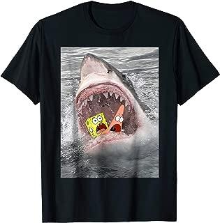 Spongebob SquarePants Shark Attack Humorous T-Shirt