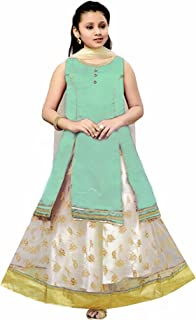 Exclusive Silk Embroidered Work - Kids Salwar Suit (Fully Stitched)