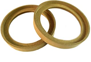 """1 Pair 6.5"""" RING-6.5BZ MDF Speaker Ring Recess With Bezel MOUNTING SPACER"""