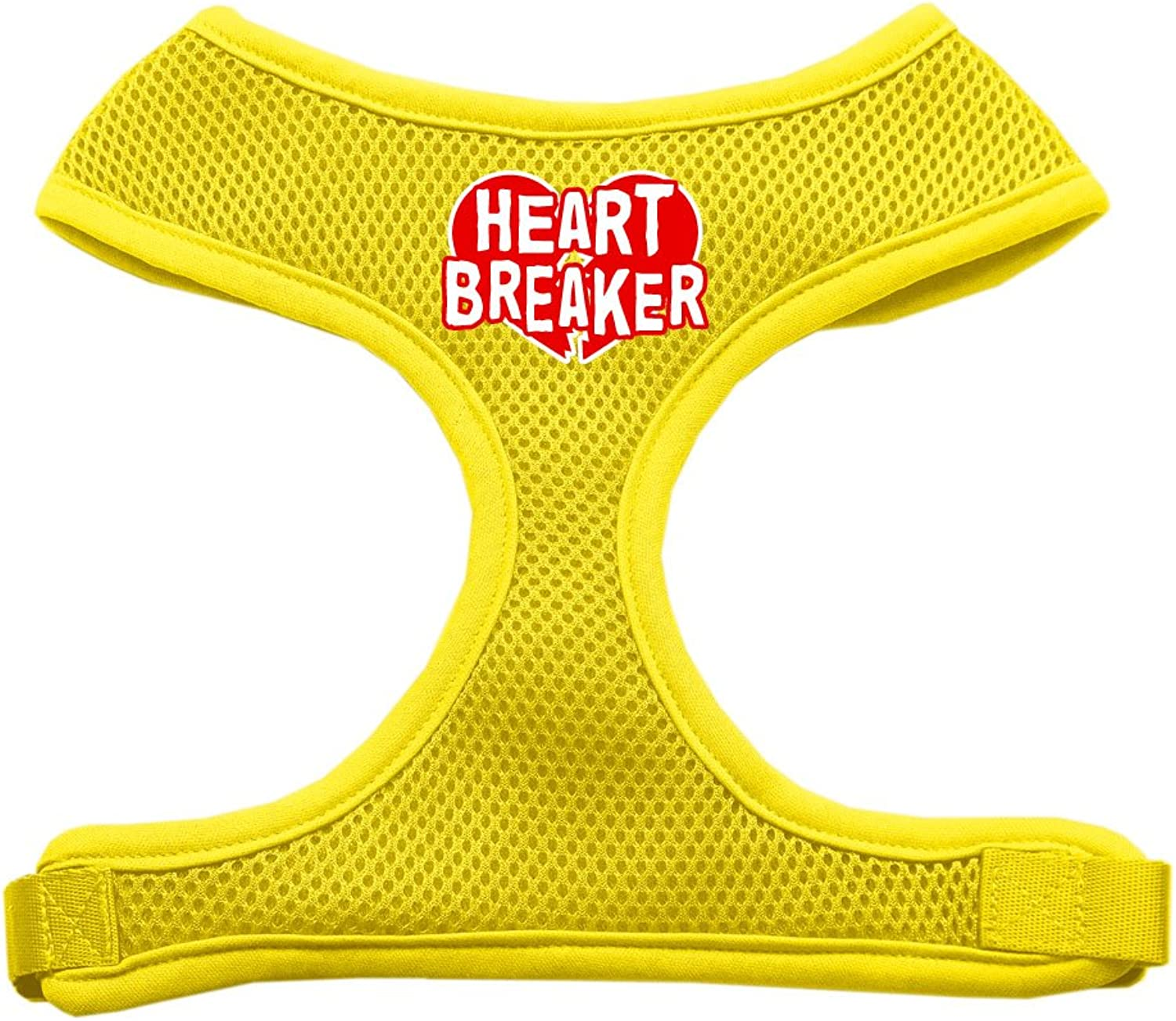 Mirage Pet Products Heart Breaker Soft Mesh Dog Harnesses, XLarge, Yellow