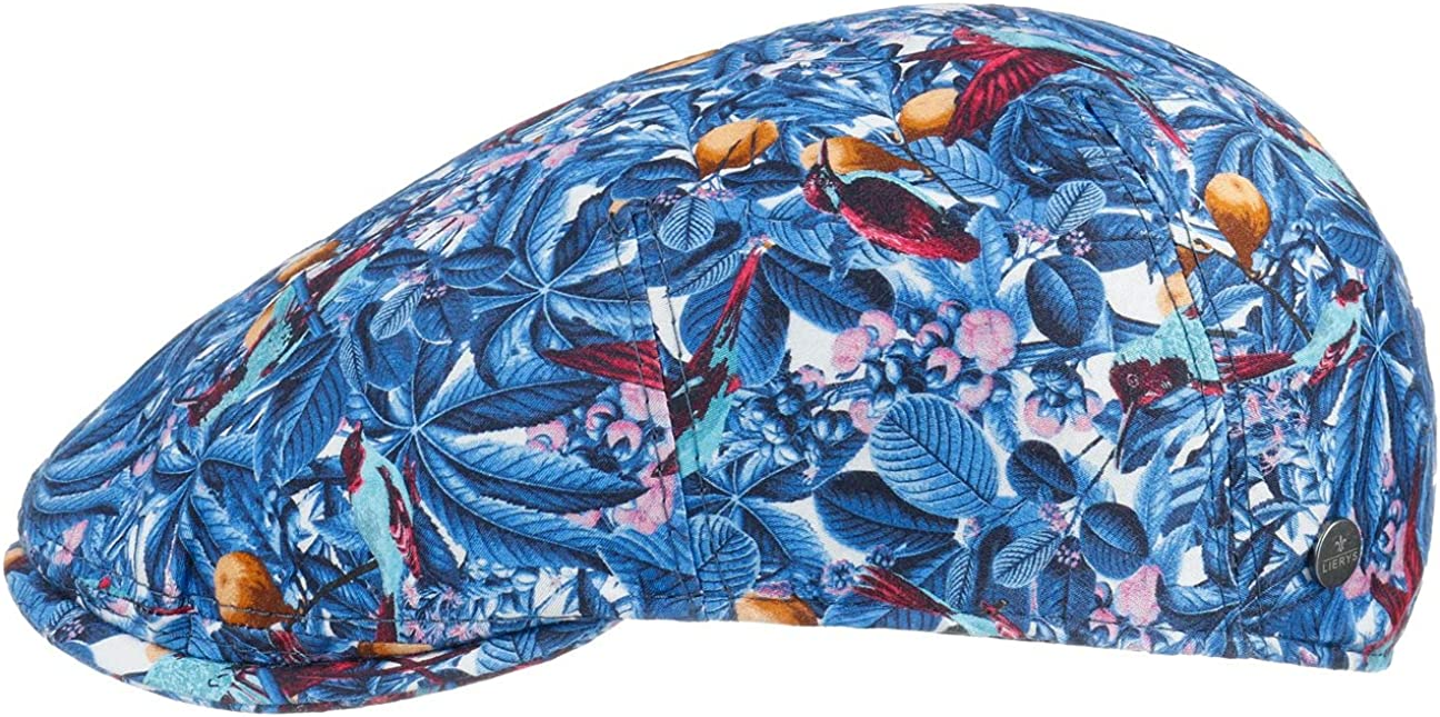 New York Mall Lierys Tropical Blue Flat Cap Italy Men in - Made Surprise price