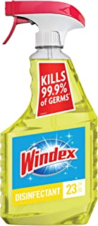 Windex Multi-Surface Cleaner and Disinfectant Spray Bottle, Citrus Fresh Scent, 23 fl oz
