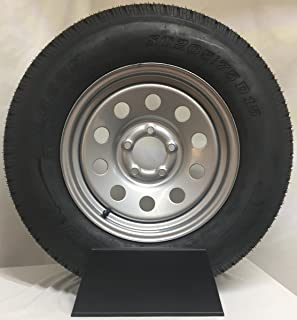 New 15 Inch 5 on 4.5 Silver Mod Mounted With St205 75D15 Bias Tire