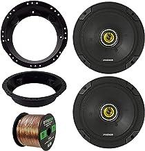 "for 98-13 Harley Speaker Bundle: 2 x Kicker 6-3/4"" Inch 600 Watt CS-Series Black Car Audio Coaxial Speakers, Speaker Mount... photo"