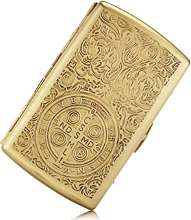 Cigarette Case Pure Copper Embossed Arabesque Tobacco Storage Case Holder for 12 King Size Cigarettes (Cigarette Case Constantine)