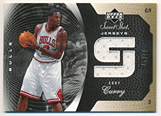 BIGBOYD SPORTS CARDS Eddy Curry 2005/06 UD Sweet Shot Bulls Gold RELIC Game Jersey SP #45/99 F4