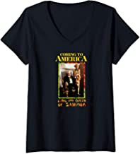 Womens Coming to America: King and Queen Zamunda V-Neck T-Shirt