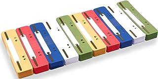 perfect line 250 lamelles recyclées colorées, bandes en carton naturel disponibles en 5 couleurs, languettes colorées de 2...