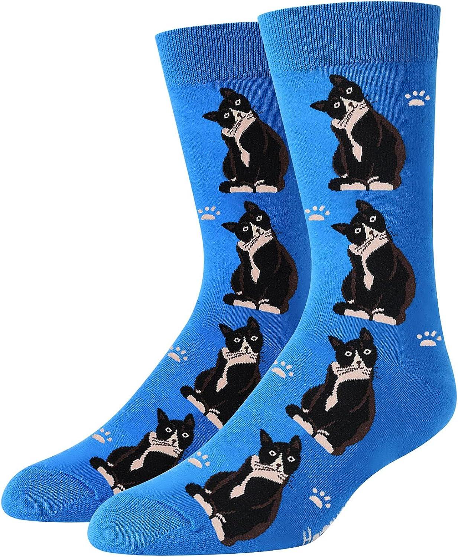 SOCKFUN Funny Cat Gifts Corgi Gifts for Men Boys, Novety Crazy Cat Socks Corgi Goat Duck Narwhal Anima Socks
