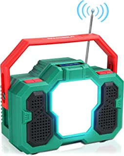 Sponsored Ad – Emergency Radio, HYCHIKA 4 in 1 Multi-function LED Rechargable Light 15W, 8000mAh Power Bank, FM Radio, Blu...