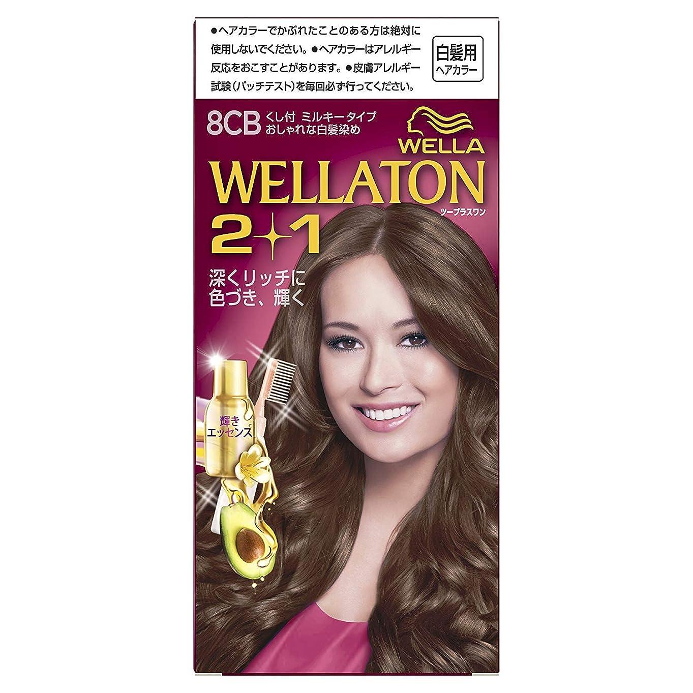 動機粘性の取り囲むウエラトーン2+1 白髪染め くし付ミルキータイプ 8CB [医薬部外品] ×6個