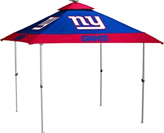 NFL Pagoda Tent with Solar Panel, LED Lights, and Solo-Up Technology