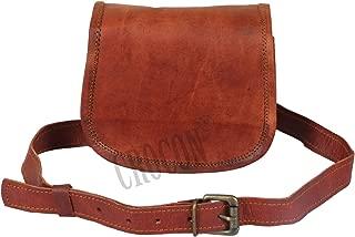 Crocon Leather Satchel Shoulder Bag for Sturdy Waterproof Briefcase Genuine Vintage Design Multi pocket Cross Body Bag for Office Collage Unisex