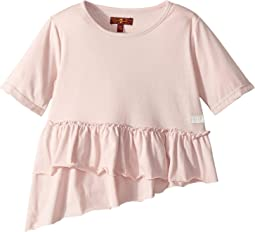 Ruffle Hem Tee Shirt (Little Kids)