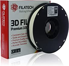 Filatech 3D Printing ABS Filament 1.75 mm +/- 0.05 mm 0.5 Kg Spool 100% Virgin Material Made in UAE (White)