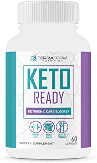 Keto Ready - Max Strength Keto Carb Blocker 1200mg – Burn Fat & Block Carb Absorption – Minimize Cheat Meals & Maintain Ke...