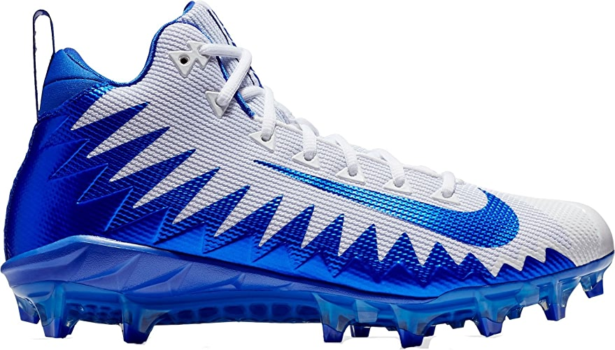 NIKE Hommes's Alpha Hommesace Pro Mid Football Cleat blanc Game Royal Photo bleu Taille 10 M US