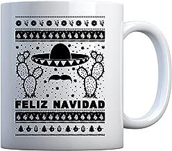 Mug Feliz Navidad 11oz Pearl White Gift Mug