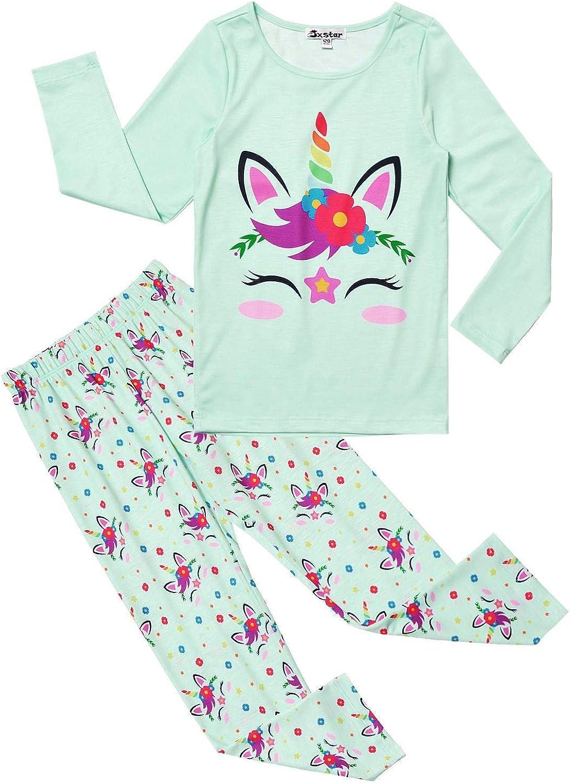 Jxstar Pajamas for Girls Unicorn Pj Set Kids Long Sleeve Fall Winter Sleepwear …