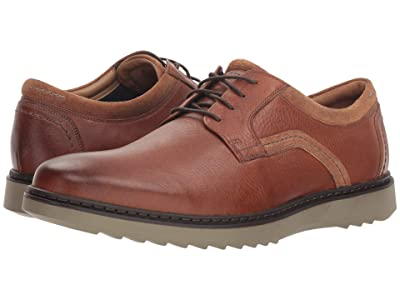 Clarks Un Geo Lace (Dark Tan Leather) Men