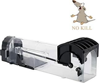 GoMaihe Trampas para Ratas 1 Pieza, Trampas para Ratas Trampa Ratones Plástico Transparente, Trampas para Ratones, Negro
