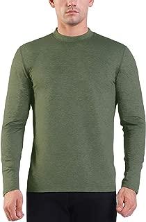 Ogeenier Men's Fleece Long Sleeve Running Athletic Shirt Mock Neck Thermal Top Baselayer