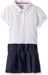 فستان بولو لباس مدرسي للبنات باكمام منفوخة وتنورة كسرات من شيروكي