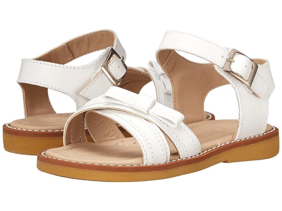 Elephantito Lili Crossed Sandal w/Bow (Toddler/Little Kid) (White) Girls Shoes