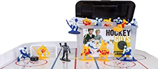 Kaskey Kids Hockey Guys – Blue/Yellow Inspires Kids Imaginations with Endless Hours of Creative, Open-Ended Play – Includes 2 Teams & Accessories – 25 Pieces in Every Set!