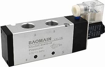 Baomain Pneumatic Solenoid Air Valve 4V410-15 AC 110V 5 Way 2 Position PT1/2