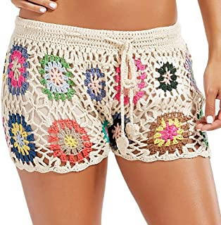Womens Crochet Net Hollow Out Beach Pants Sexy Swimsuit Cover Up Pants