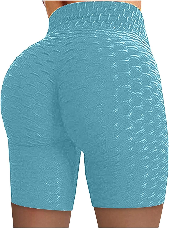 Workout Shorts for Women Scrunch Booty Ruched Butt Lifting Biker Yoga Shorts High Waist Gym Short Leggings
