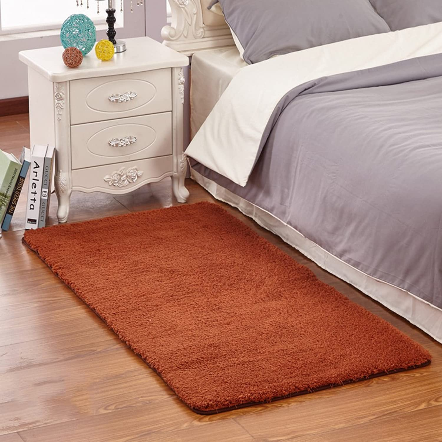 Couch mat thickening plush bedroom mat Bay window mat Room bed mat Rectangular pad-C 60x120cm(24x47inch)