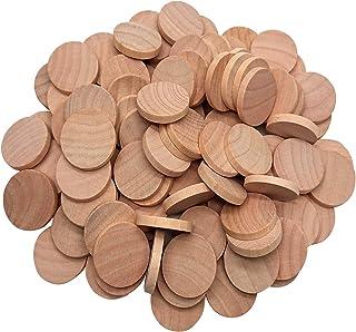 木製スライス 天然木 木片 DIYの工芸品のためのディスクをスライス 50個入り