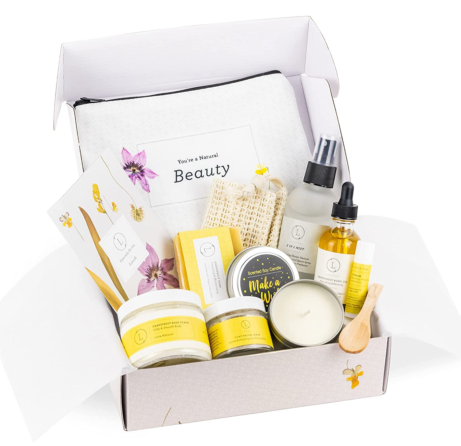 Personalized Spa Gift Set Relaxation Citrus Basket Care Max Ranking TOP7 68% OFF Packag
