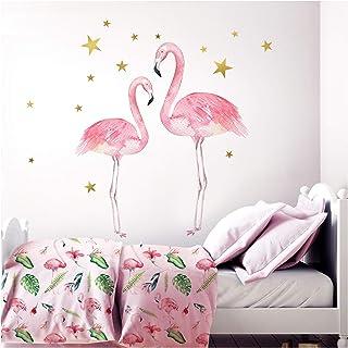 Sticker Mural Rose Flamant Rose Animaux Stickers Muraux Bricolage Ballons Stickers Muraux Pour Maison Chambres DEnfants B/éb/é Chambre P/épini/ère D/écoration 142X150 Cm