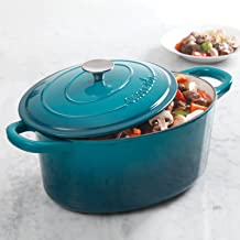 Crock Pot Artisan 7QT Oval Dutch Oven, Teal