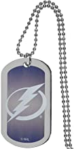 NHL Tampa Bay Lightning Team Tag Necklace, Steel, 26
