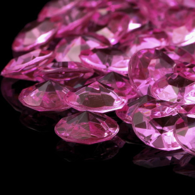 1000 pcs/lot 12mm (6Carat) Acrylic Pink Diamond Crystals Confett