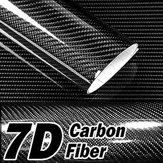 Native Gear 7D High Gloss Black Carbon Fiber Tech Art 2ft x 5ft 3 Layer Realistic True Carbon Fiber Look cast Vinyl wrap for car, Boat, Bike DIY