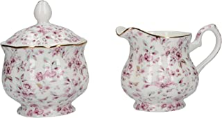 """Katie Alice """"ditsy Floral"""" Fine Bone China White Sugar Bowl And Creamer Jug By"""