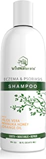 Wild Naturals Eczema Psoriasis Shampoo : 98% Natural, 80% Organic, Sulfate Free, Soothing, Healing, Anti Dandruff, Flaky, Itchy, Dry Scalp Treatment Soap for Seborrheic Dermatitis, Moisturizing, 16oz