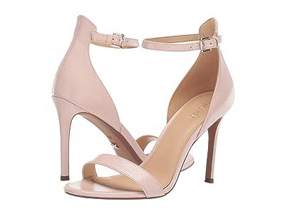 MICHAEL Michael Kors Harper Sandal (Soft Pink Embossed Patent) High Heels